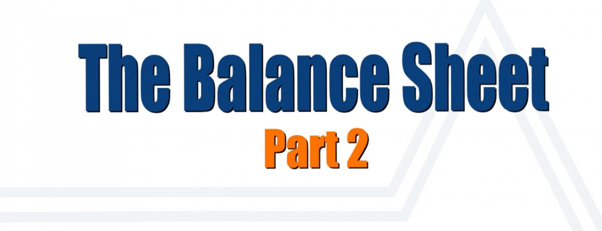 Balance Sheet Part 2